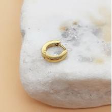 Серьга-кольцо в хрящ с напылением ювелирная сталь округлая 2 и 3 мм (1 шт.)