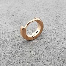Серьга-кольцо конго в ухо унисекс покрытие розовое золото округлая 2 мм (1 шт.)
