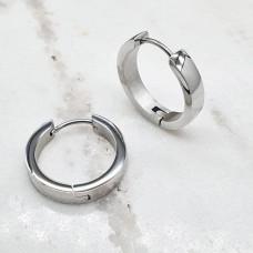 Серьги кольца конго из медицинской стали унисекс округлые 4 мм в ассортименте