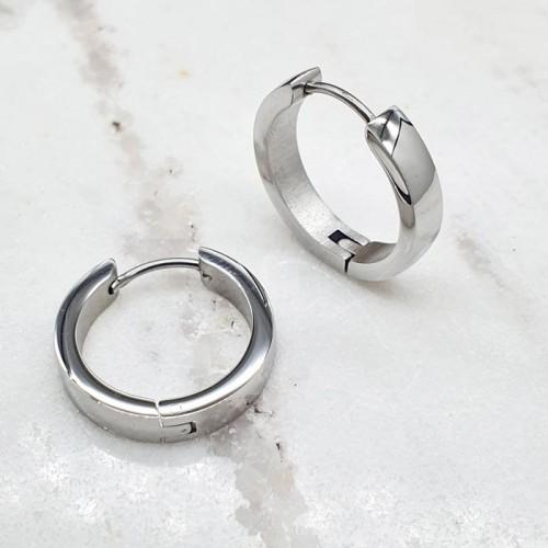 Серьги кольца конго из медицинской стали унисекс округлые 4 мм