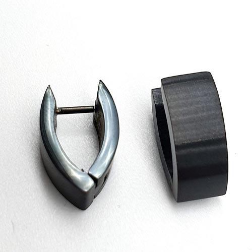 Сережки из хирургической стали с черным pvd покрытием