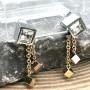 Необычные сережки с подвесками из комбинированной стали Модные кубики