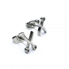 Сережки пусеты – купить стильную бижутерию в «Steel-Evolution» купить №9