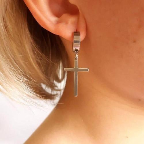 Серьги с подвесками из медицинской стали Кресты
