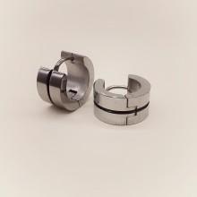 Серьги кольца унисекс из медицинской стали круглые матовые в ассортименте
