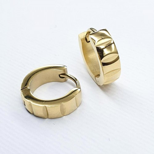 Серьги-кольца из медицинской стали округлые