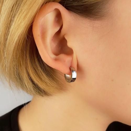 Серьги в ухо из стали унисекс 5 мм