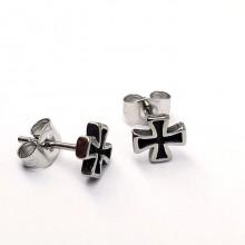 Сережки с застежкой пусет металлические для мужчин и женщин