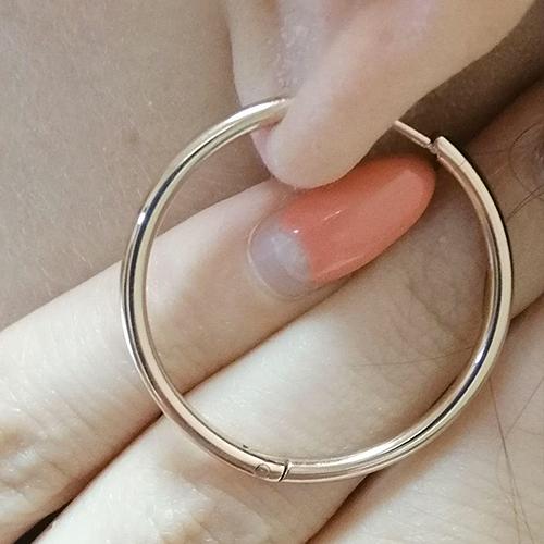Серьги-кольца из медицинской стали женские Харизма в ассортименте