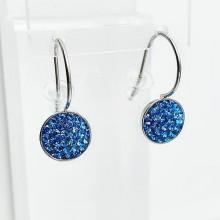Серьги Swarovski с усыпкой из синих кристаллов