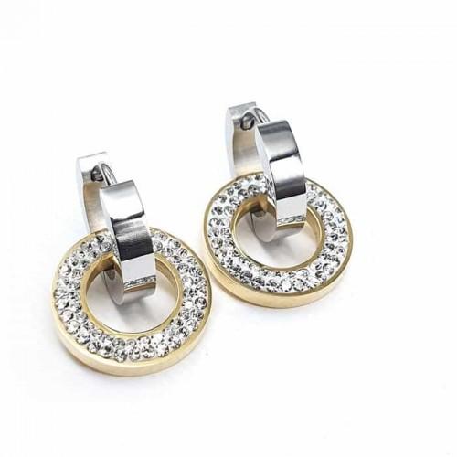 Серьги-кольца из ювелирного сплава женские Маура