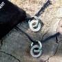 Серьги-кольца из медицинской стали женские Дамиа