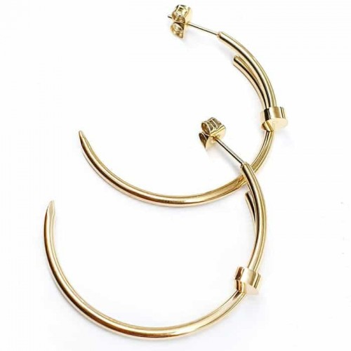 Серьги-кольца Гвоздь из медицинской стали женские