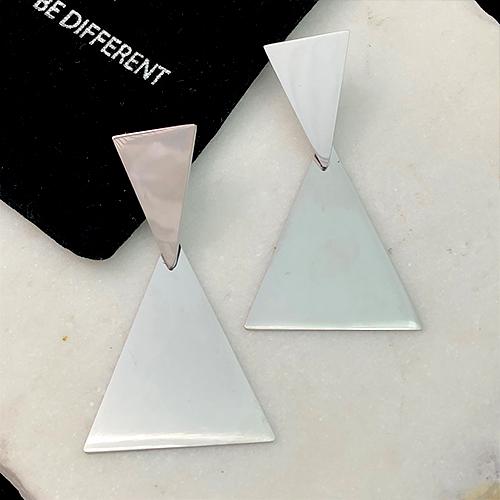 Длинные серьги из медицинской стали Треугольники