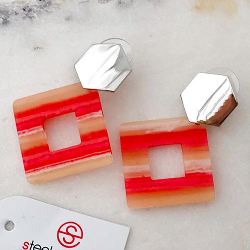 Длинные серьги из медицинской стали женские Розовый десерт