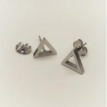 Серьги пусеты стальные Треугольники