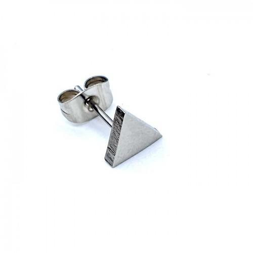 Серьги-гвоздики стальные треугольники в уши (1 шт.)