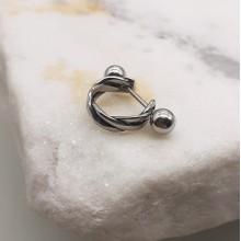 Сережки закрутки в хрящ уха из стали Эвелин (1 шт.)