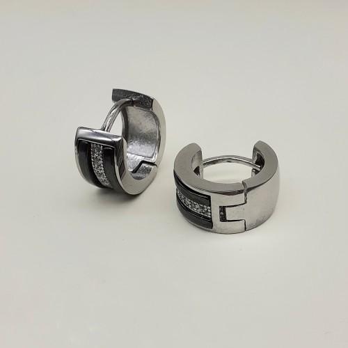 Серьги кольца женские керамические