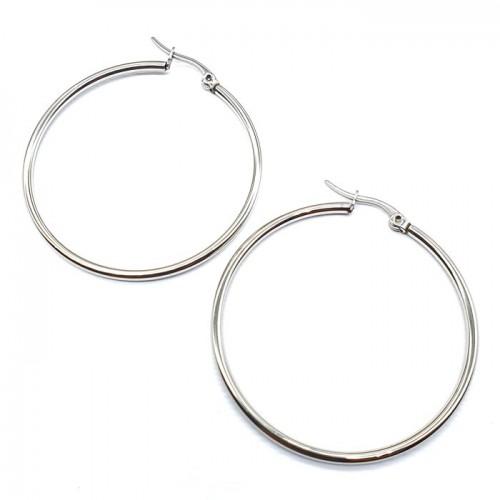 Сережки кольца из хирургической стали женские в разных диаметрах