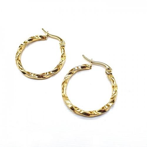 Сережки-кольца в уши из ювелирного сплава