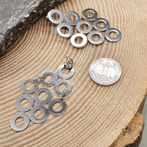 Вечерние серьги из медицинской стали с застежкой-пусет Ажурные ромбы