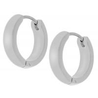 Круглые серьги-кольца из медицинской стали унисекс