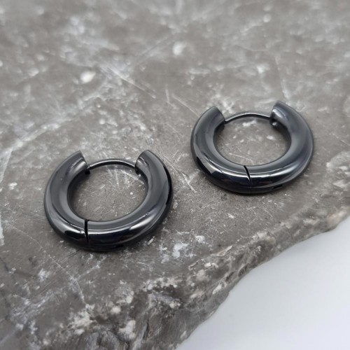 Серьги кольца из стали унисекс 4 мм