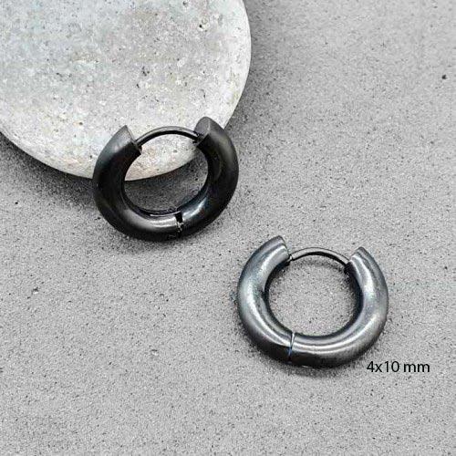 Сережки конго круглые черные мужские женские матовые 4 мм