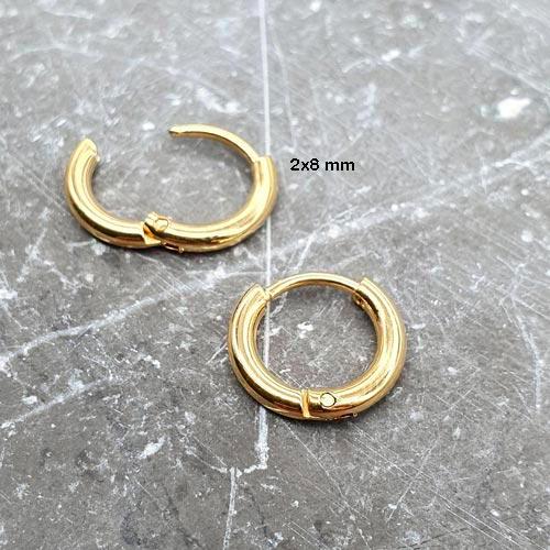 Серьги-кольца из медицинского сплава унисекс 2 мм в ассортименте
