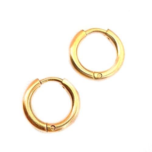 Стальные серьги-кольца в ухо женские мужские матовые 2 мм