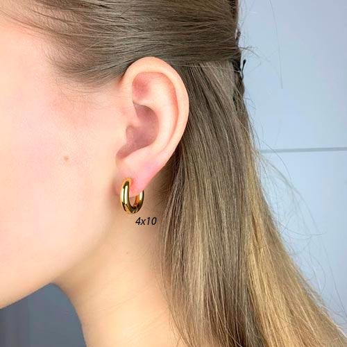 Сережки конго в уши из медицинской стали унисекс