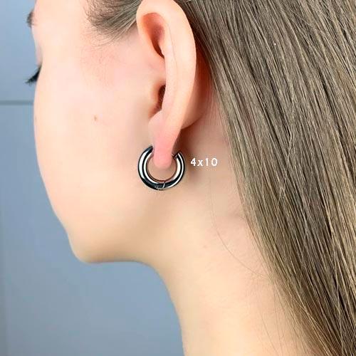 Сережки конго в уши из стали унисекс 4 мм в ассортименте