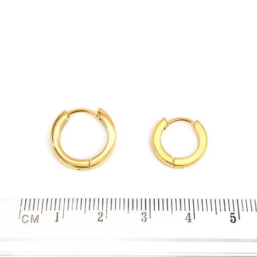 Серьги кольца в уши унисекс из ювелирной стали
