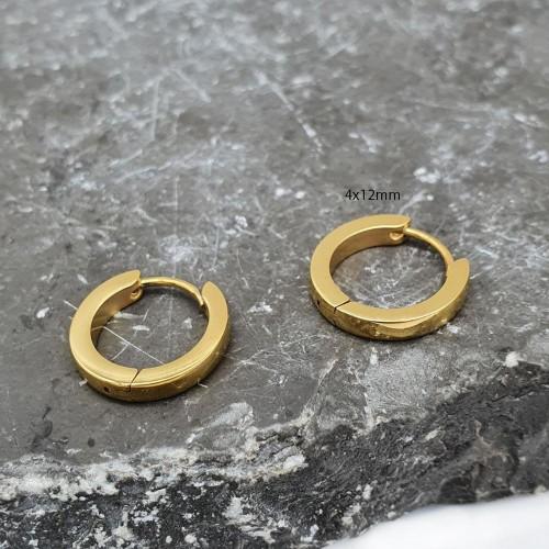 Серьги конго из хирургической стали унисекс 4 мм