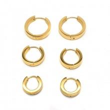 Серьги кольца для женщин Тип/Модель украшения Без подвесок купить №7