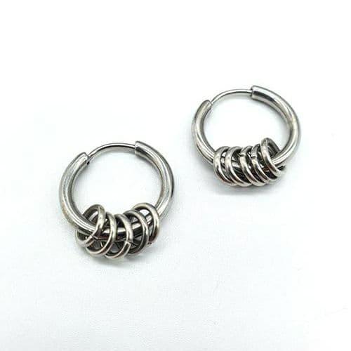 Серьги кольца из нержавеющей стали в ассортименте