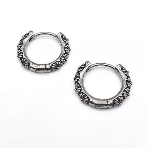 Круглые сережки конго из стали унисекс Замкнутое кольцо