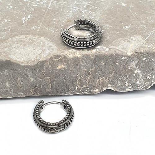 Необычные серьги-кольца из медицинской стали Вавилон