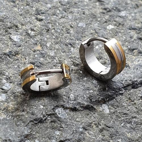 Стальные серьги-кольца унисекс комбинированная сталь