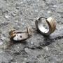 Стальные серьги-кольца унисекс комбинированная сталь купить №2