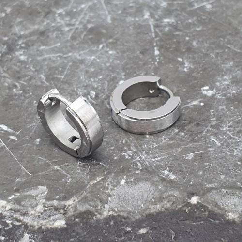 Серьги в ухо из стали для мужчин и женщин матовые