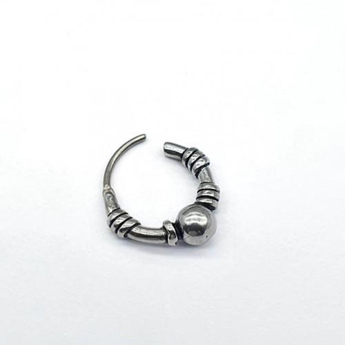 Серьга-кольцо для мужчин и женщин из ювелирной стали (1шт.)