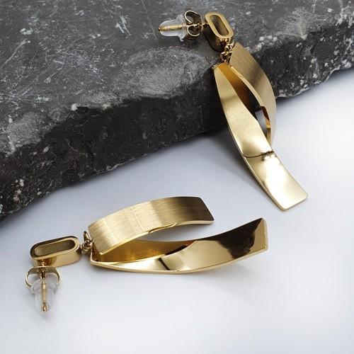 Серьги-гвоздики ювелирная сталь Милла
