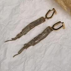 Длинные серьги-висюльки из ювелирной стали Мэрри