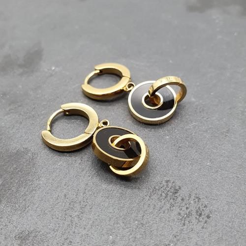 Висячие серьги-кольца для женщин из стали Нино