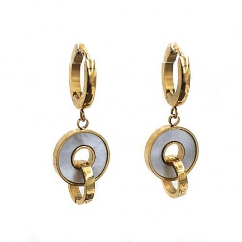 Висячие серьги-кольца для женщин из стали Трикси