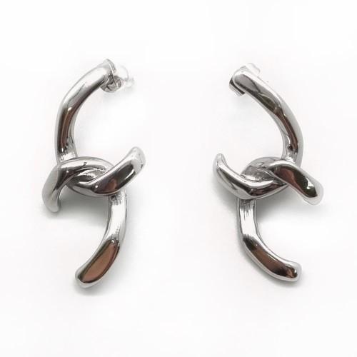 Необычные серьги-гвоздики из ювелирной стали Власть