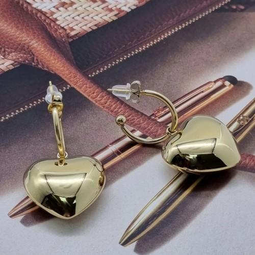 Серьги-гвоздики для женщин из хирургической стали Золотое Сердце