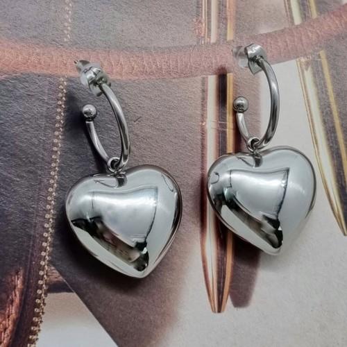 Серьги-гвоздики для женщин из хирургической стали Серебряное Сердце